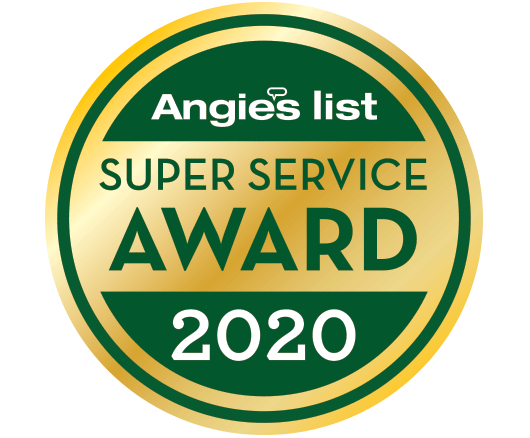 Angies List Super Service Award 2020 badge